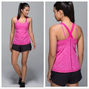 Lululemon Run For Gold Tank Pink Size 4